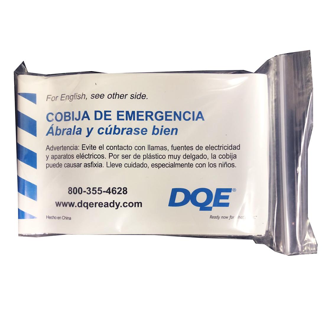 Emergency Warming Blanket Package Back Spanish image