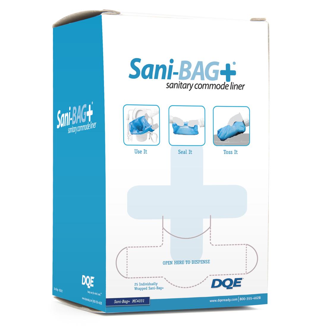 25 Sanibag bedpan liners per diespenser box image