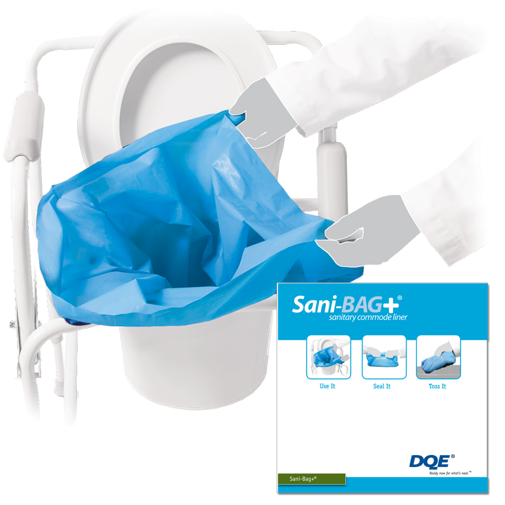 Sani-Bag+ Commode Liner - 100 pack image