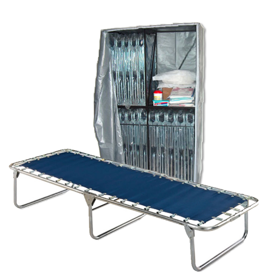 Economy Cots (20) with Cart image