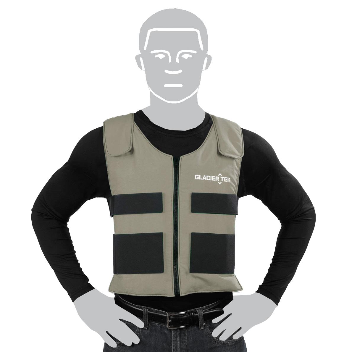 Glacier Tek Cooling Vest Gray image