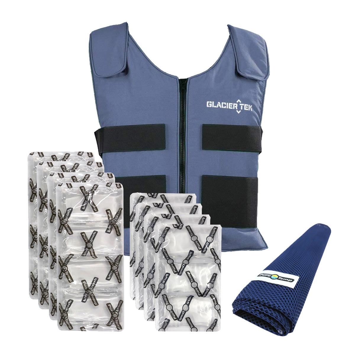 Glacier Tek Cooling Vest with Ice Pack Set image