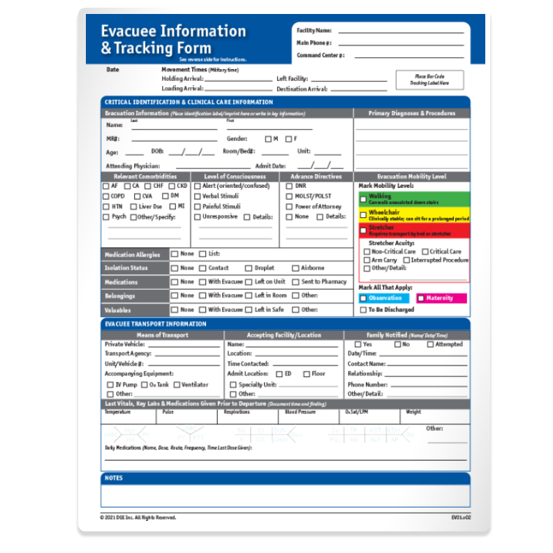Patient Information & Tracking Form image