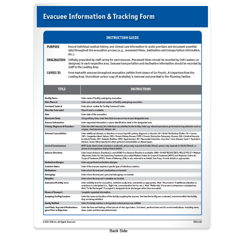 Patient Information & Tracking Form Side 2 image
