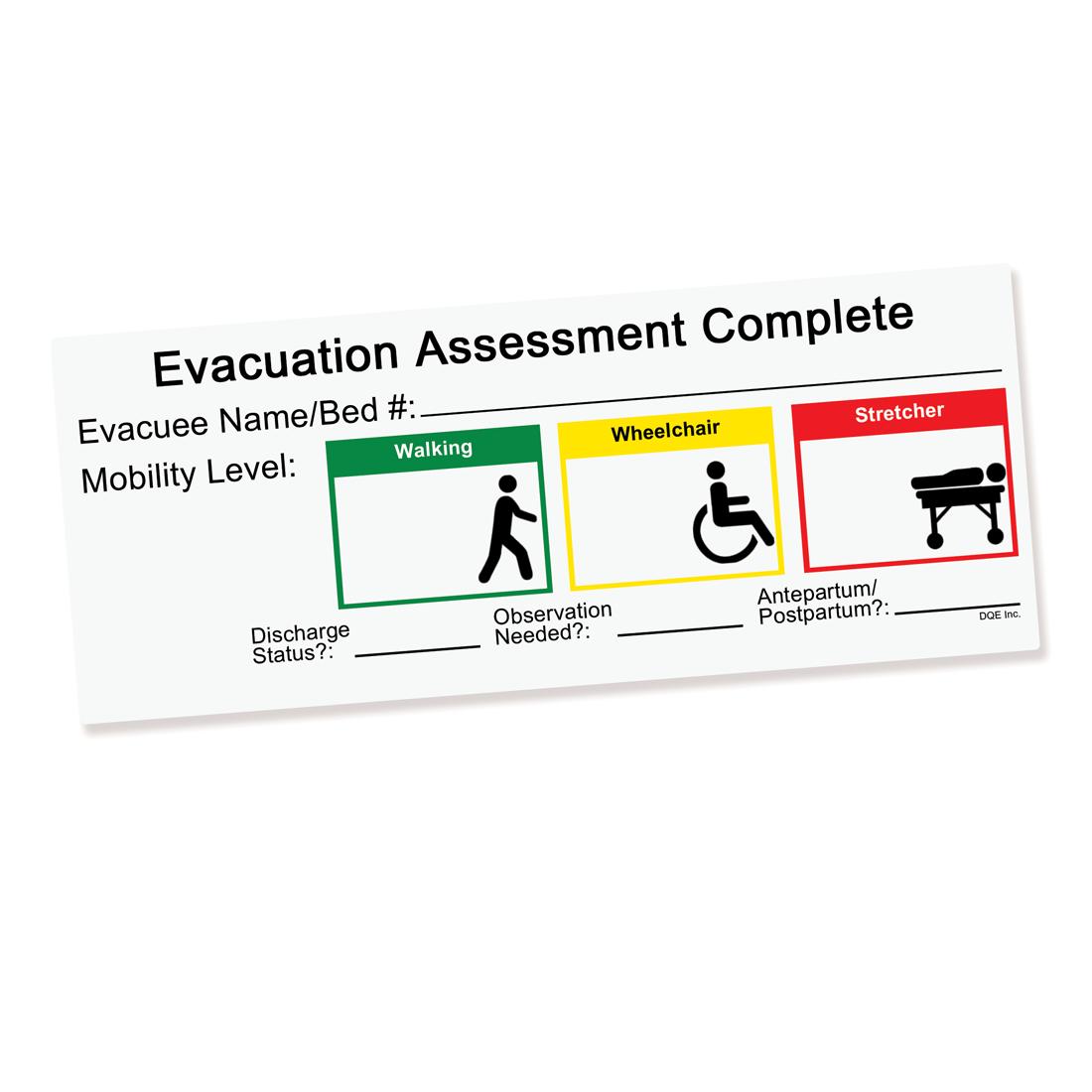 Evacuation Assessment Door Sign image