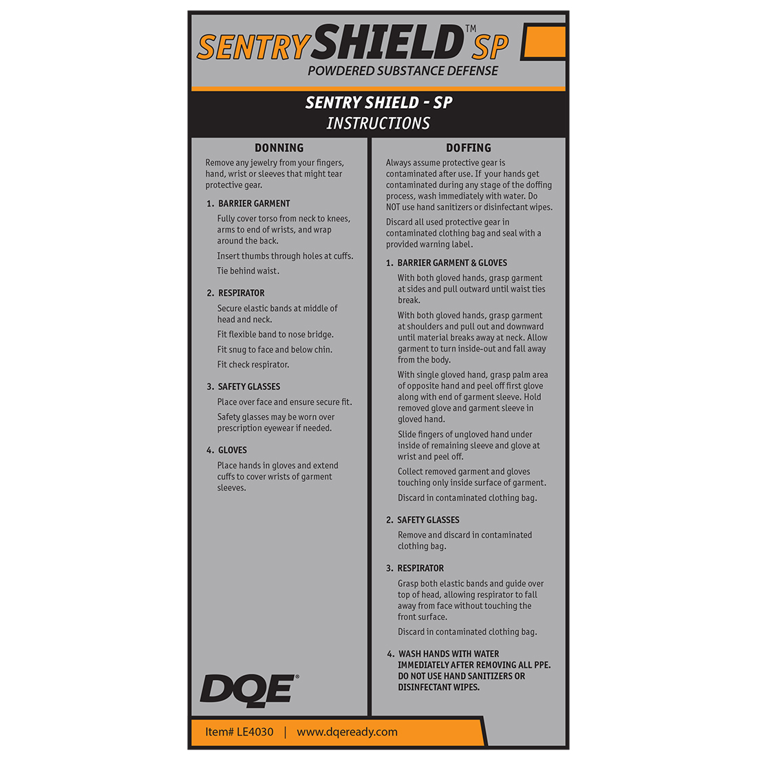 Sentry Shield SP - Powdered Substance Defense Kit