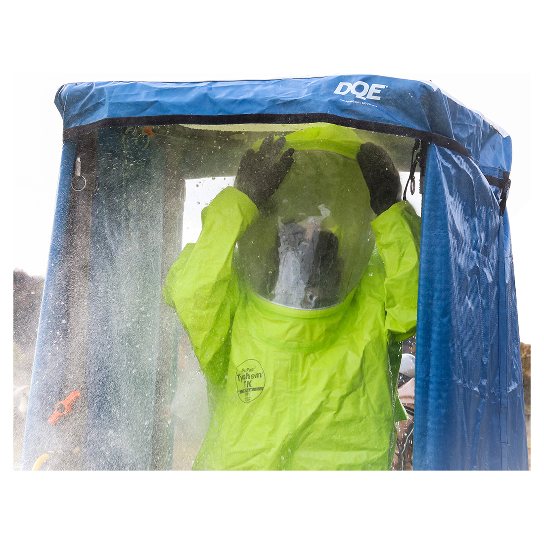 Hazardous Materials Shower in use image