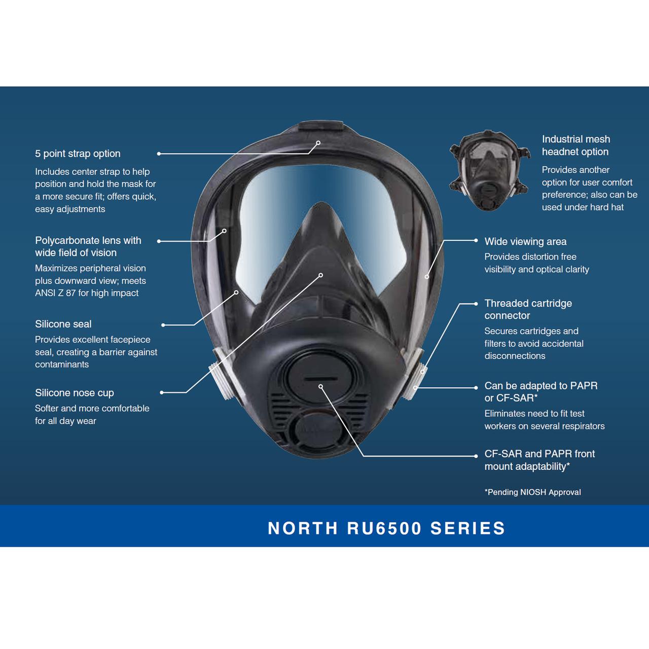 Honeywell North RU6500 Silicone Full Facepiece