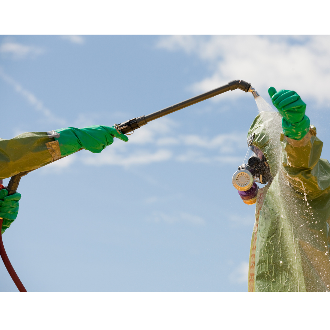 Gross decontamination in use.