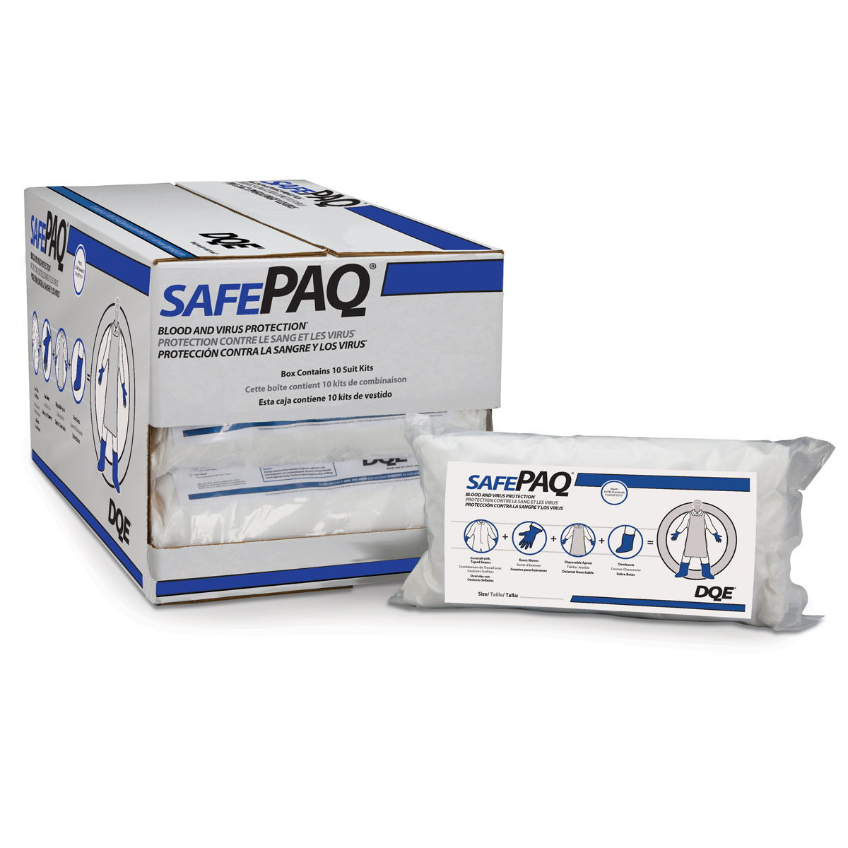 SafePaq® Blood & Virus Protection Kit