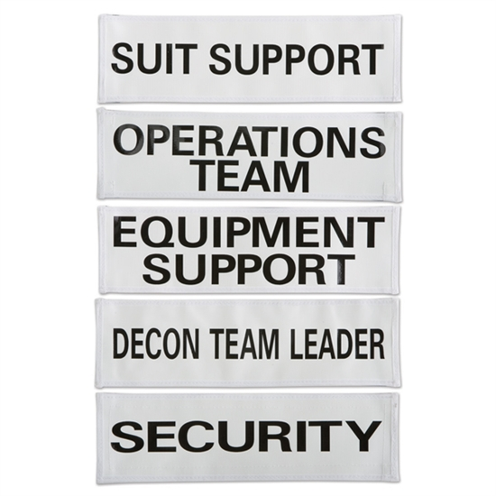 Decon Team Cooling Vest Labels