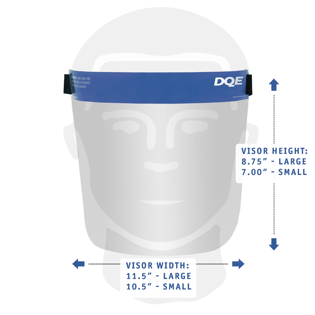 Reusable Face Shield Dimensions image