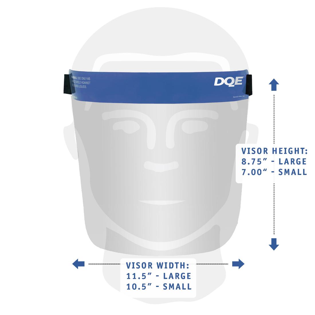 Reusable Face Shield Dimensions image
