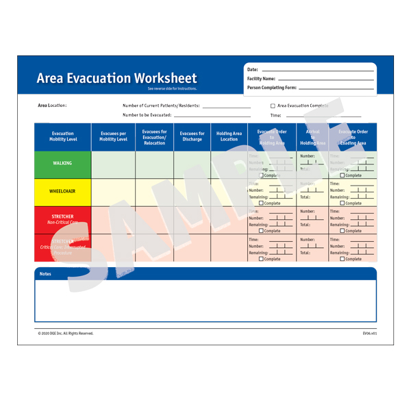 Area Evacuation Worksheet image
