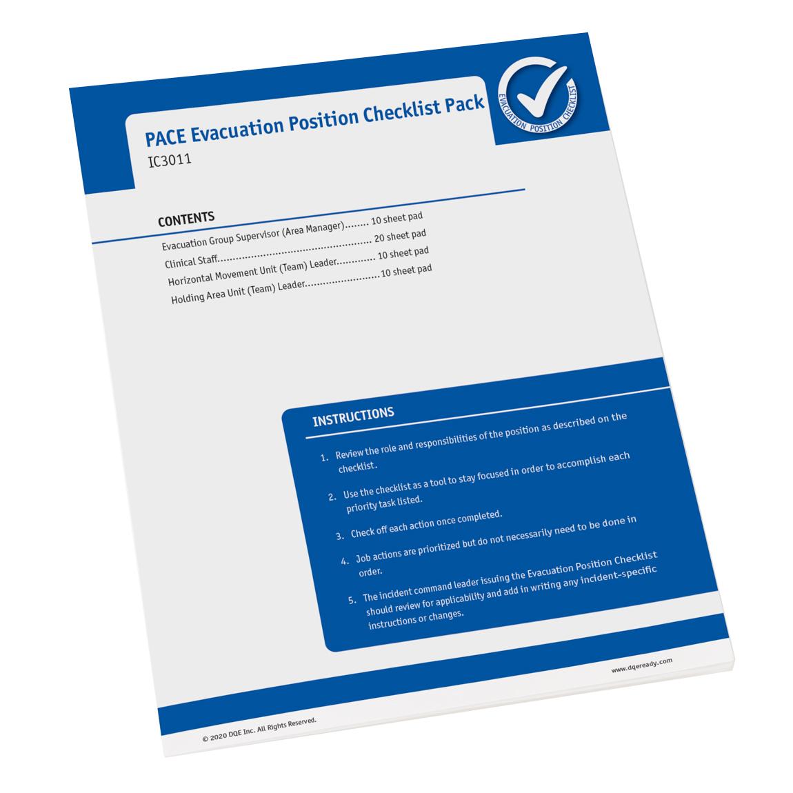 Evacuation Position Checklist image
