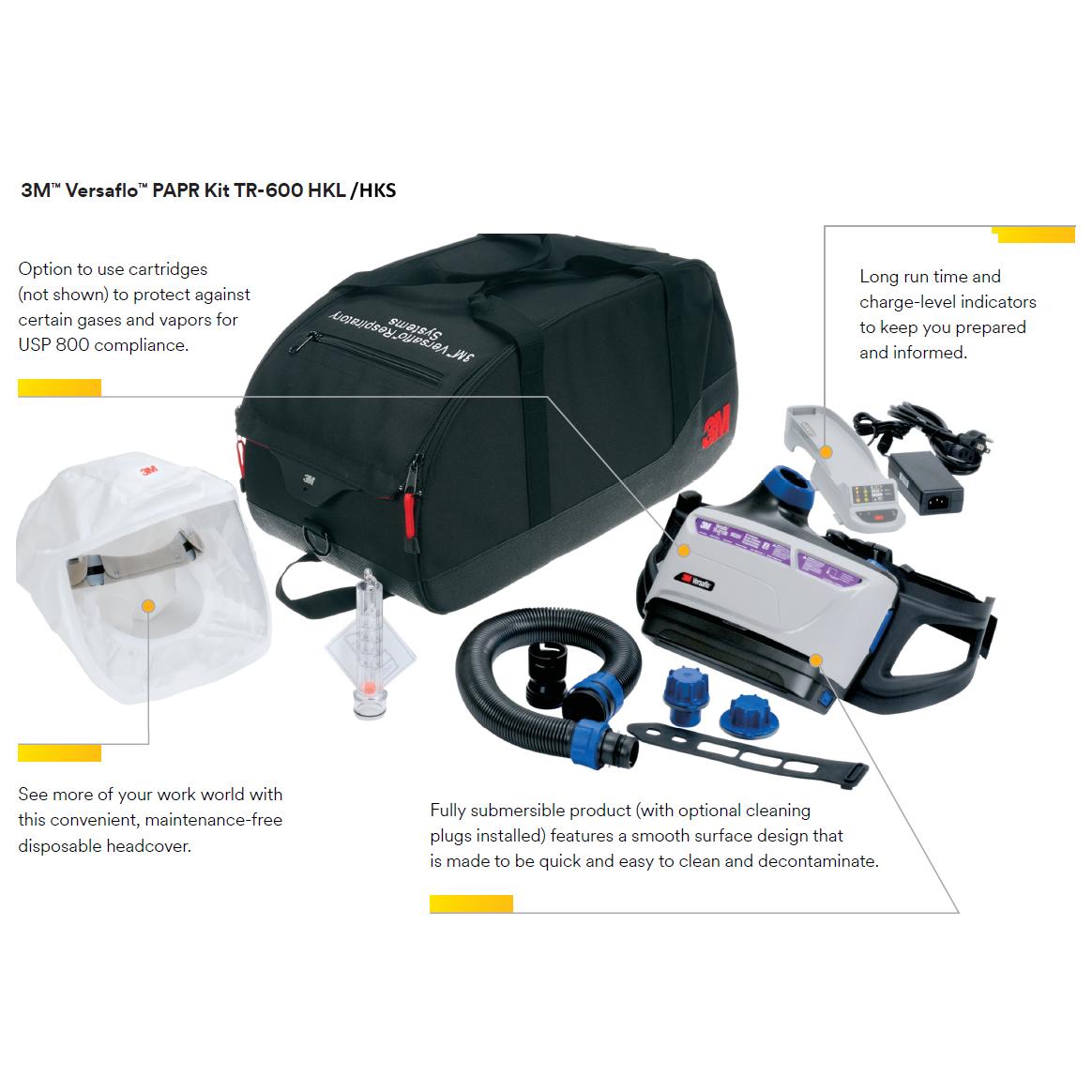 3M Versaflo TR-600 PAPR Kit details image