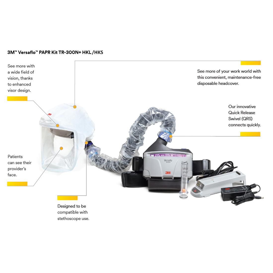 3M Versaflo TR-300N+ PAPR Kit details image