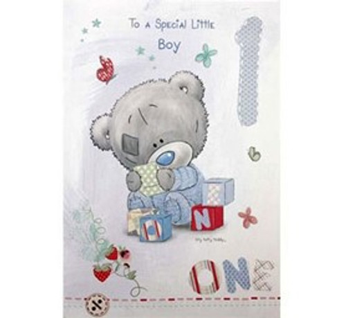 Tatty Teddy Boy 1st Birthday Card