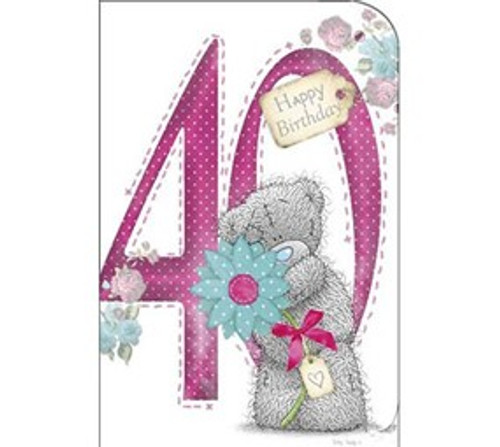 Tatty Teddy 40th birthday Card