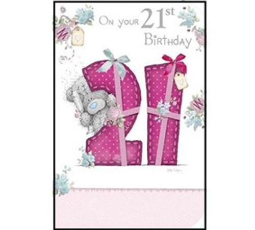 Tatty Teddy 21st birthday Card