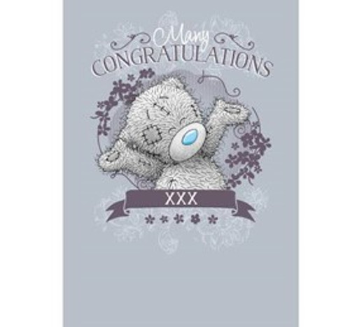 Tatty Teddy 'Many Congratulations' Card