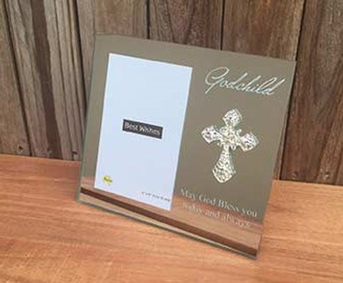 Mirrored Godchild Photo Frame
