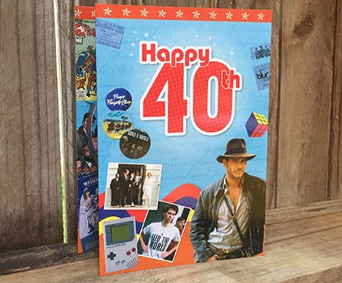 Happy 40th Birthday DVD card - A Visual History From 1984 - 2005
