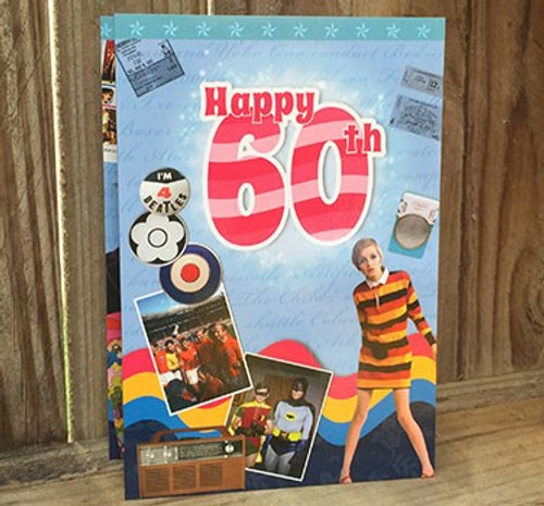 Happy 60th Birthday DVD Card - A Visual History From 1964 - 1994