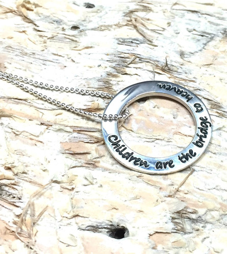 Poetic Pieces Pendant - Children Are The Bridge To Heaven