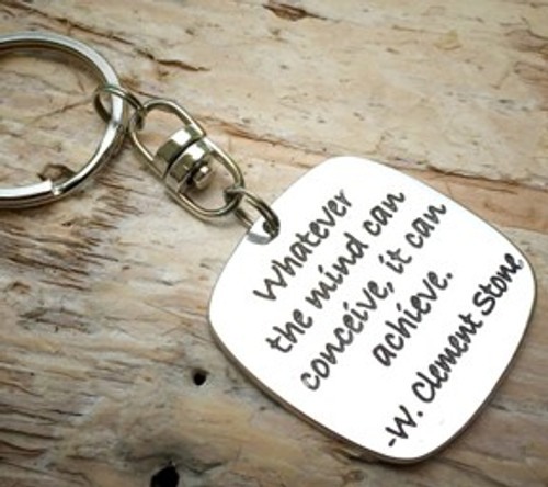 Poetic Pieces Key Ring - 'Whatever the Mind Can Conceive'