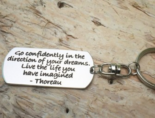 Poetic Pieces Key Ring - 'Go Confidently..'