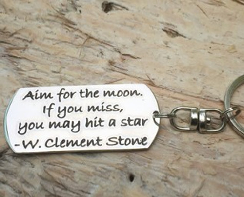 Poetic Pieces Key Ring - 'Aim For The Moon'