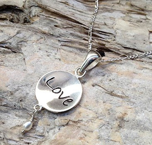 Poetic Charm Pendant - Love