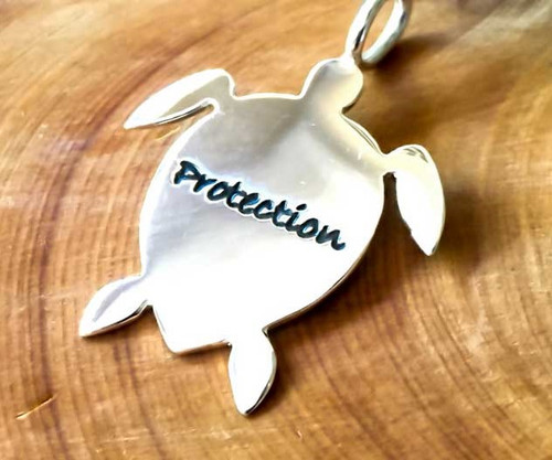Poetic Pieces Pendant - Turtle For Protection