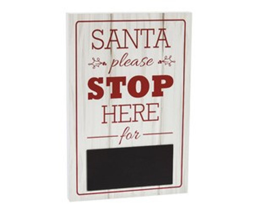 Santa, Please Stop Here' Chalkboard Sign