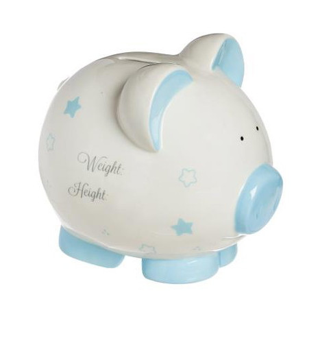 My First Piggy Bank - Large - Pink or Blue