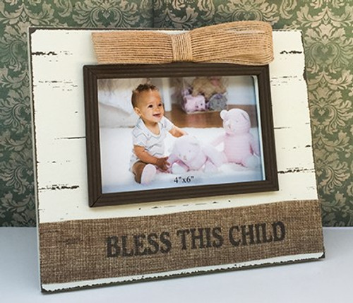 Shabby Chic Baby Blessing Photo Frame - 2 Designs