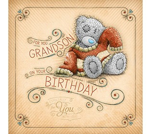 Tatty Teddy Grandson birthday Card