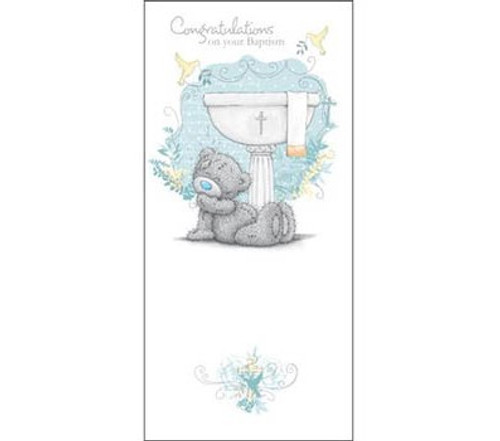 Tatty Teddy Baptism Greeting Card