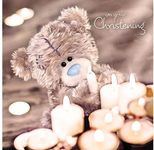 Tatty Teddy Holographic 3D Christening card