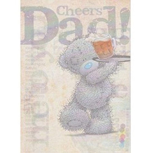 Tatty Teddy 'Cheers Dad' Fathers Day Card