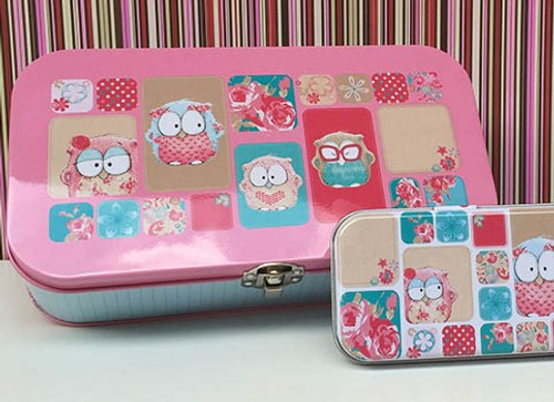 Owl Montage Keepsake Tin