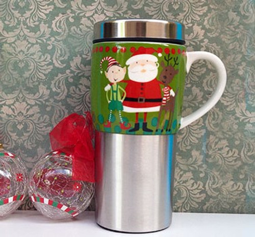 Santa Insulated Travel Mug - Kris Kringle
