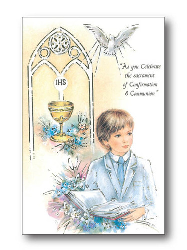 Combined Confirmation and Communion Card for your Son or Daughter