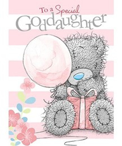 Tatty Teddy Goddaughter Birthday Card