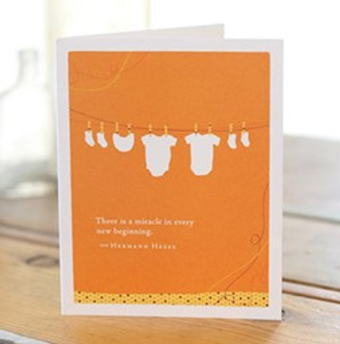 New Baby Greeting Card - Miracle
