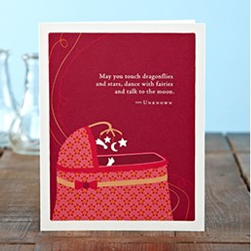New Baby Greeting Card - May You Touch Dragonflies