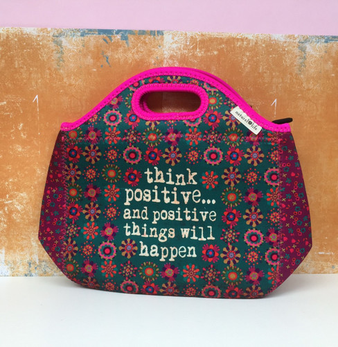 Neoprene 'Think Positive' Bag