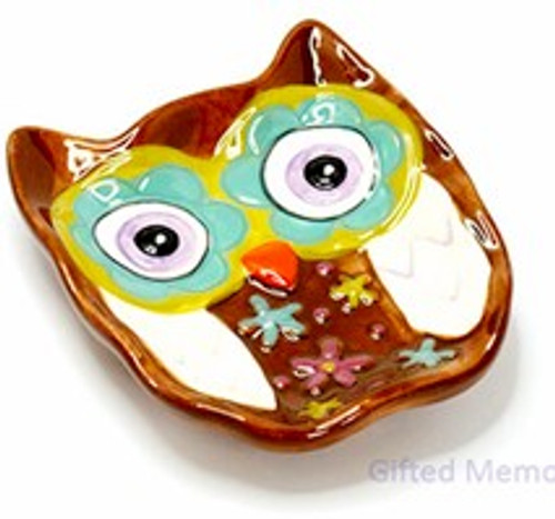 Owl Trinket Dish - Brown