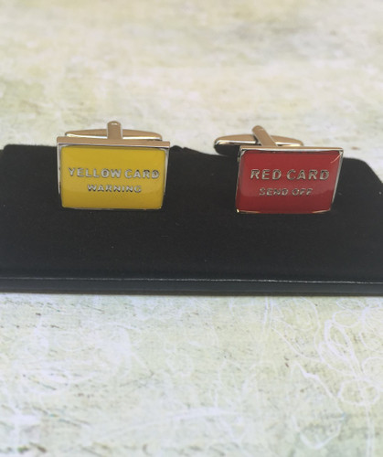 Men's Cufflinks - Yellow Card Red Card